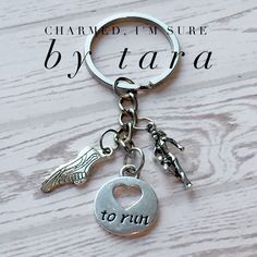 A personal favorite from my Etsy shop https://www.etsy.com/listing/474347769/love-to-run-keychain