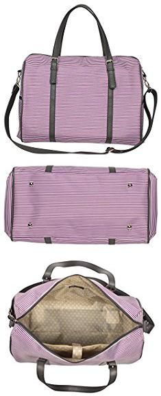 "Jessica Simpson Weekender Bag. Jessica Simpson Breton Weekender, 17"", Purple.  #jessica #simpson #weekender #bag #jessicasimpson #simpsonweekender #weekenderbag"