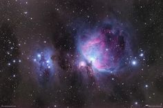 """""""Orion Nights"""" by Will Vrbasso.My annual imaging of the Great Orion Nebula (M42), and the Running Man Nebula. A favourite and popular target, I just like to take photos of it to gauge my progress every year - sort of a """"yard stick""""."""