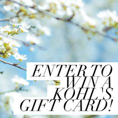 Win a $150 Kohl's gift card!!!