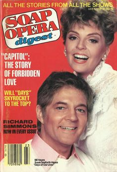 Bill Hayes & Susan Seaforth Hayes (Doug & Julie #DAYS) 6/8/82 http://classicsodcovers.tumblr.com/