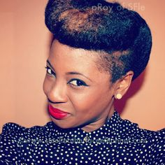 Natural hair. Love these retro styles