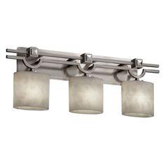 Justice Design Group CLD-8503 - Argyle 3 Light Bath Bar - Oval Shade - Brushed Nickel - CLD-8503-30-NCKL