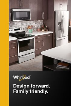 Whether you're planning for a small space, building your dream kitchen, or upgrading to a smart home design, Whirlpool is a great fit for your kitchen interior. Complete your appliance makeover with black and stainless steel options in dishwashers, fridges, microwaves, ovens and more.