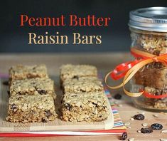 Peanut+Butter+Raisin+Bars+for+the+Holidays