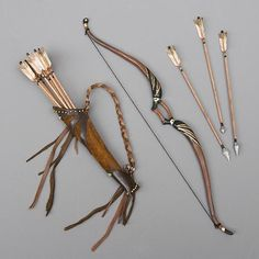 How to make a bow, and quiver full of arrows for 1/4 to 1/3 scale BJD.