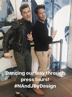 Nate and Jeremiah dancing their way through press tours! Nate And Jeremiah, Nate Berkus, Press Tour, Sarah Michelle Gellar, Handsome Guys, Today Show, New Shows, Mens Clothing Styles, Season 3