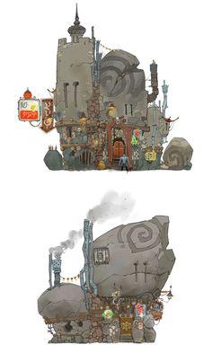 Artes de Cory Loftis para o game Wildstar | THECAB - The Concept Art Blog