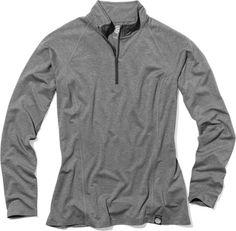 REI Co-Op Quarter-zip Tech Shirt - Charcoal Heather