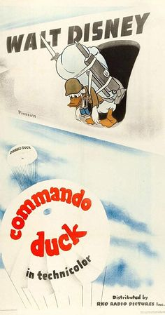 Directed by Jack King. With Clarence Nash. Donald Duck is ordered to wipe out a Japanese Vintage Disney Posters, Disney Movie Posters, Classic Movie Posters, Disney Films, Disney Cartoons, Cartoon Posters, Mickey Mouse Art, Mickey Mouse And Friends, Minnie Mouse