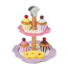 Tidlo Pretend Play Cake Stand Set
