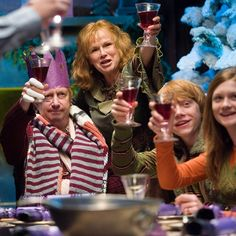 """A Christmas toast to Mr. Harry Potter, without whom I would not be here."" - Arthur Weasley #HarryPotter"