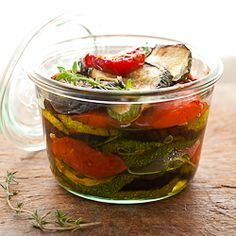 Marinated Roasted Eggplant, Zucchini and Tomatoes with Garlic and Thyme | Preserving Summer