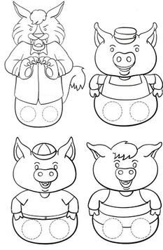 the three little pigs puppets - Buscar con Google