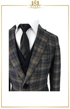 A well tailored and beautifully made boys check suit designed by Romano. Available as a 3pc or 6pc suit set. This is a premium well tailored slim fit suit, and you'll love the way your young man will look in this outfit. Shop now at SIRRI kids #childrens suits #boys 3 piece suit #kids wedding suits #boys communion suits