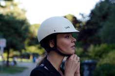 SAHN is a new company based in Vancouver that produces sexy bike helmets.