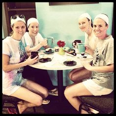 Our first color runners definitely deserving their cupcakes after a rainy morning! #ohmycupcakes