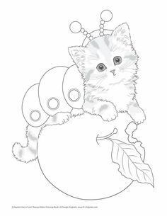 Cat for colouring Dog Coloring Page, Printable Adult Coloring Pages, Cute Coloring Pages, Colouring Pics, Animal Coloring Pages, Coloring Pages To Print, Coloring Books, Teacup Kitten, Image Chat