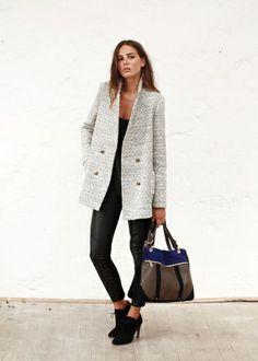 Sezane I Caban Bogart Fashion Moda, Look Fashion, Looks Style, Style Me, Vetements Shoes, Moda Outfits, Mode Shop, Winter Mode, Inspiration Mode