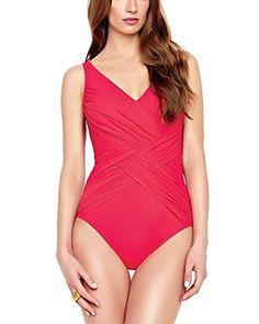 1ad6216df04 Gottex Lattice Surplice One Piece Swimsuit Plus Size Swimsuits, Plus Size  Outfits, One Piece