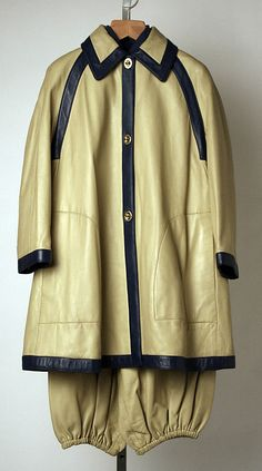 Ensemble Bonnie Cashin (American, 1915–2000) Manufacturer: Philip Sills & Co. (American, founded 1946) Date: spring/summer 1969 Culture: American Medium: leather, wool