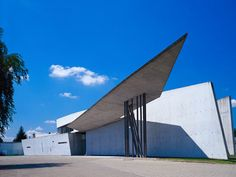Vitra Fire Station, built by Zaha Hadid in 1993 (her first building!)