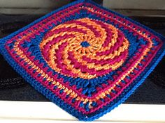 """Ravelry: Spiralling into Spring March Mystery 9""""/12"""" Afghan Block Square free pattern by Margaret MacInnis"""