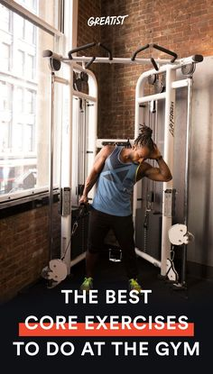 These 17 genius ways to use gym equipment will help you build a stronger midsection.  #abs #workout #exercises https://greatist.com/move/abs-workout-most-effective-core-moves-to-do-at-the-gym