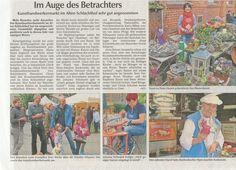 Artikel über Straubinger Kunsthandwerkermarkt.Foto von W. Schaffrath