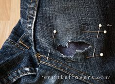 Seriously- it's a tragedy that my favs got a hole in the thigh! In fixing them/ cause I'm cheap!