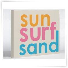 Sun - Surf - Sand Canvas Print