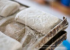 Stock Photo of Ciabatta Bread Dough