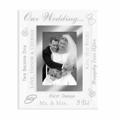 Wedding Picture Frame Beveled Treasures