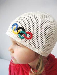 Crochet Olympic games hat.