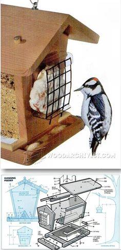 Building Bird Feeders - Outdoor Plans and Projects | WoodArchivist.com