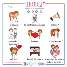 Learn French with A Cup of French® on A Cup of French… French Verbs, French Grammar, French Phrases, Basic French Words, How To Speak French, Learn French, Gcse French, Study French, French Language Lessons