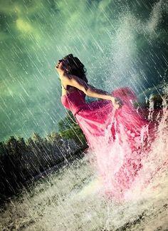 rain and pink