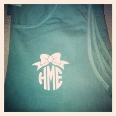 Monogram with Bow Comfort Color Tanks. bows!!!