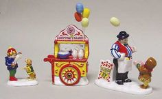 Department 56 Snow Village Carnival Tickets & Cotton Cand - With Box-Bx551