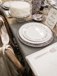 Set of Wedding Cake Plates - Beloved