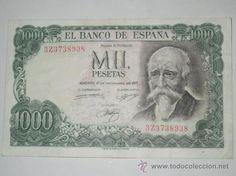 billete de mil 1000 pesetas  madrid 17 de septiembre 1971 serie z con muy poca circulacion