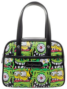 320b26d6c4d3ea Sourpuss fink faces mini bowler purse