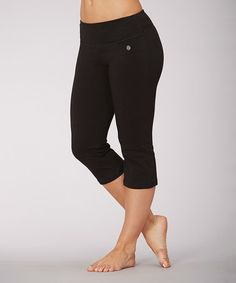 Look what I found on #zulily! Black Tummy Control Capri Yoga Pants by Bally Total Fitness #zulilyfinds