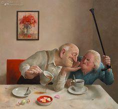 """(Not)Tea time lovers """"Liefde van één kant"""" (One sided Love)  Marius van Dokkum"""
