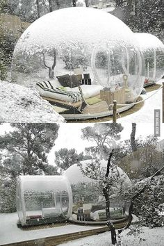 Globo de neve em casa.