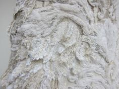 Bead embroidery on haute couture dress