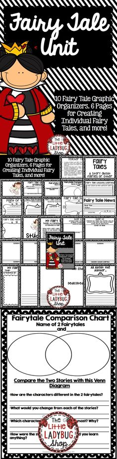 Fairy Tale Unit {NO PREP} |Fairy Tales | Fairy Tale Study | Fairy Tale Activities | NO Prep   This Fairy Tale Unit is packed with 10 Graphic Organizers and Activities to assist students in PUBLISHING their very own Fairy Tale! There is NO PREP! You read Fairy Tales and use these wonderful activities! Click to GRAB yours now!