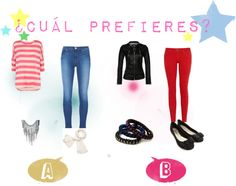 """cual prefieres"" by celesteapex on Polyvore"
