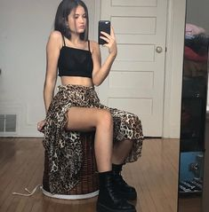 Cute aesthetic trendy outfit with skirt Leopard print Cool Outfits, Summer Outfits, Fashion Outfits, Womens Fashion, Fashion Clothes, Fashion Fashion, Fashion Ideas, Fashion Tips, Aesthetic Fashion