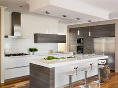 My idea of a kitchen, no handles press to open, very sleek!